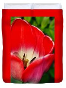 Monet Garden Red Tulip Duvet Cover