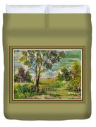Monetcalia Catus 1 No. 3 Landscape Scene Near Fontainebleau L B With Alt. Decorative Printed Frame. Duvet Cover