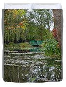 Monet's Bridge At Giverny, France Duvet Cover