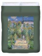 Monet's Garden At Vetheuil Duvet Cover