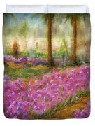 Monet's Garden In Cannes Duvet Cover by Jerome Stumphauzer