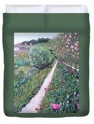 Monet's Garden Path Duvet Cover