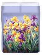 Monet's Iris Garden Duvet Cover