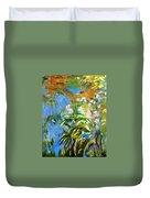 Monet's Irises Duvet Cover