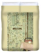 Money Restrooms Duvet Cover