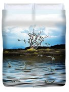 Money Tree On A Windy Day Duvet Cover