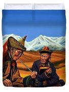 Mongolia Land Of The Eternal Blue Sky Duvet Cover