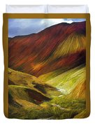 Mongolian Landscape Duvet Cover