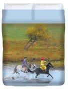 Mongolian Rider Duvet Cover