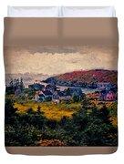 Monhegan Island Maine Duvet Cover