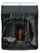 Monk At  Ta Prohm Temple  Duvet Cover