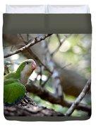 Monk Parrot Duvet Cover