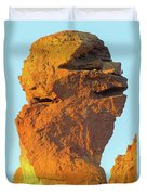 Monkey Face Pillar At Smith Rock Closeup Duvet Cover