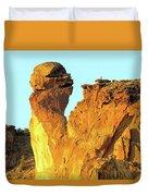 Monkey Face Pillar At Smith Rock Duvet Cover