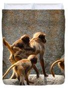 Monkey Family Duvet Cover
