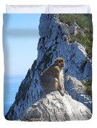 Monkey In Gibraltar Duvet Cover