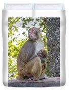 Monkey Mom Duvet Cover