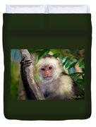 Monkey Portrait Duvet Cover