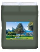 Monkey Puzzle Tree In Central Park In Bariloche-argentina  Duvet Cover