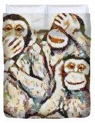 Monkey See Monkey Do Fragmented Duvet Cover