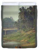 Monks - Battambang Duvet Cover