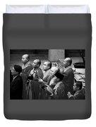 Monks Chanting - Jing'an Temple Shanghai Duvet Cover