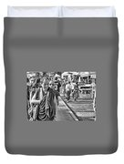 Monks Out And About Duvet Cover