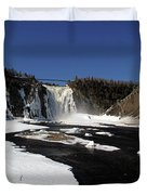 Montmorency Fall, Winter Duvet Cover