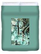 Mono Birch Bark Duvet Cover