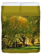 Mono Lake Fall In The Mountains Duvet Cover