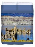 Mono Lake Spires Duvet Cover