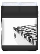 Monochrome Building Abstract 4 Duvet Cover
