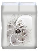 Monochrome Flower Duvet Cover