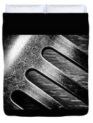 Monochrome Kitchen Fork Abstract Duvet Cover