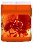Monochrome Orchid Duvet Cover