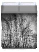 Monochrome Sunset Trees Duvet Cover