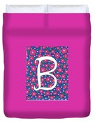 Monogram B Duvet Cover