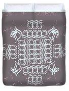 Monogram Qm Ivory Slate Duvet Cover