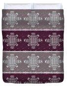 Monogram Qm Plum Wine Slate 2 Duvet Cover