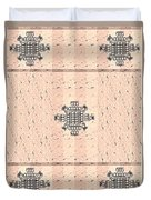 Monogram Qm Stripes Mauvecharcoal 2 Duvet Cover