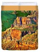 Monolith North Rim Grand Canyon Duvet Cover