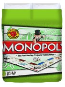 Monopoly Board Game Painting Duvet Cover