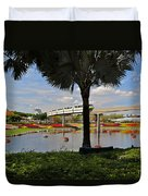 Monorail At Epcot Duvet Cover