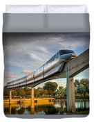 Monorail At Golden Hour Duvet Cover