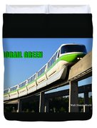 Monorail Green Wdwrf Duvet Cover
