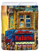 Monsieur Falafel Duvet Cover