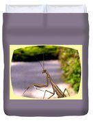 Monster Mantis Duvet Cover