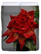 Monster Red Flower Duvet Cover