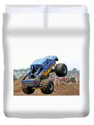 Monster Trucks - Big Things Go Boom Duvet Cover by Christine Till