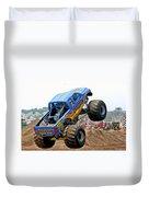 Monster Trucks - Big Things Go Boom Duvet Cover by Christine Till